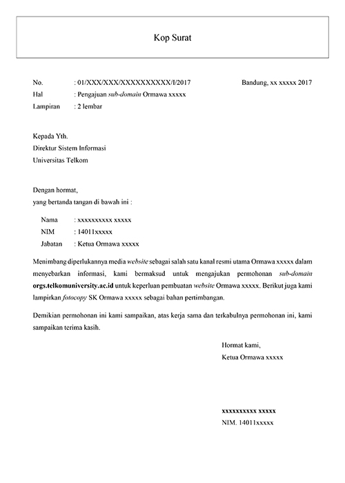 Tata Cara Pengajuan Sub Domain Telkom University Untuk